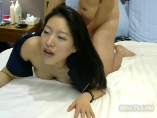 Asian stuardess fucked in hotel