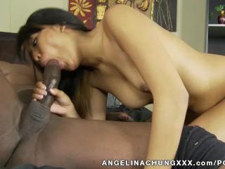 Angelina Chung Takes A Big Black Cock