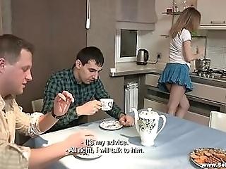 SEX DESSERT ON A KITCHEN TABLE