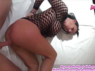 Deutsche Tattoo Latina anal mit langem Schwanz gefickt