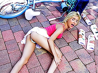 Piper Perri on the Bike