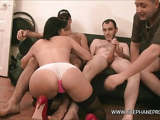 Djuliana starlet porn makes her first gangbang