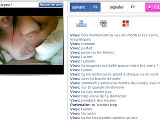 Horny french girl plays with me on Bazoocam Part 1