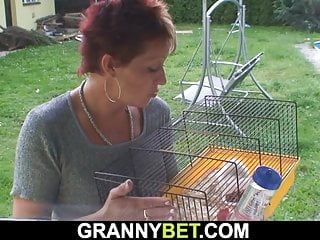 70 yo granny rides neighbour's big dick