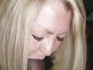 Gilf loves suckin black cock for cum