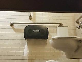 Gas Station Toilet Voyeur XX (Nerdy Girl)