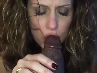 Gorgeous Milf Sucking a Big Black Cock