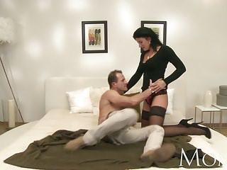 MOM Horny MILF makes her man cum twice