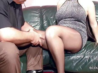Hairy German MILF in Nylon get Hard Fuck and Cum On