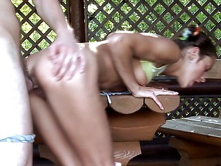 Sexy Teen Girl has Awesome Sex Outdoors w Older Guy