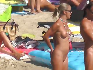 nudist blonde model naked tanned body