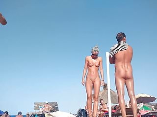 Hot Blonde Nude at the beach
