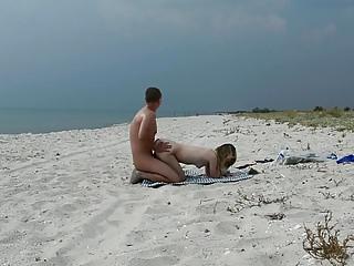 Real public beach fun