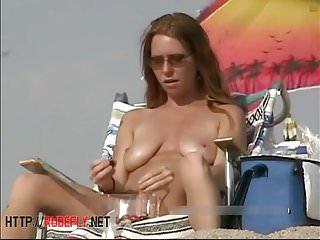 Compilation exposed woman on beach Voyeur