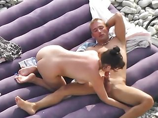 Younger Beach Couple Sex