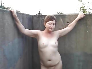 Small titted milf suzy naked bridge walk.