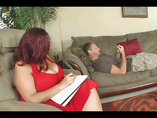 Big Titted BBW Therapy For His Cock