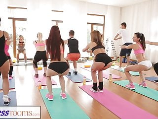 FitnessRooms Barbara Bieber has a sexual workout after gym