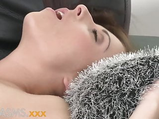 ORGASMS Young Brunnette with perfect body groans in sex