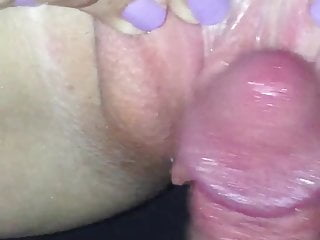 Making her cum on my cock