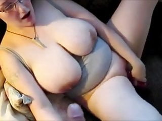 Mutual masturbation with cum on tits