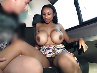 BUMS BUS - Interracial bus fuck with busty gal Ria Paradise