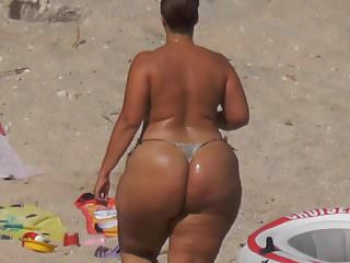 Freaks Extreme Big Phat Ass Booty topless sunbathing string