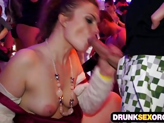 Filthy boozed sluts fucking at the costume party