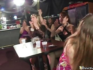 Hottest girls suck male strippers at local club