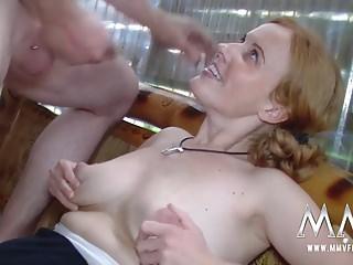 MMV FILMS Amateur German Redhead facialized