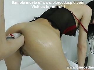 Hotkinkyjo belly bulge double anal fisting prolapse lick