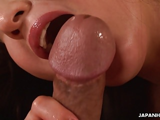 Busty Japanese MILF enjoys riding on a big hard cock