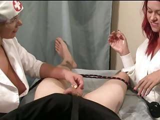 Nurse Handjob: Bound Down for a Handjob