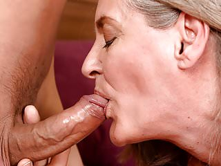 Big ass grand mother rides hard cock