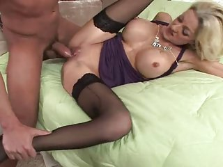 Cougar in stockings want young dick