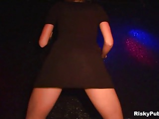 Sexy girls in the night club dancing and stripping