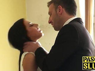 MILF gets blackmailed into having sex