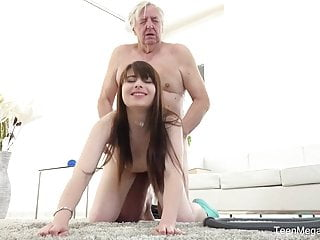 TeenMegaWorld - Old-n-Young - Old man makes sweetie kneel
