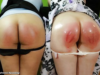Two Girls Spanked By the System
