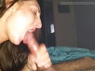 Girlfriend blow sto swallow