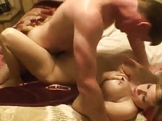 Amateur - Homemade Pierced Big Boob DP MMF Threesome