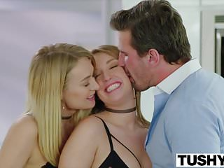TUSHY A Hot Anal Threesome For Graduation