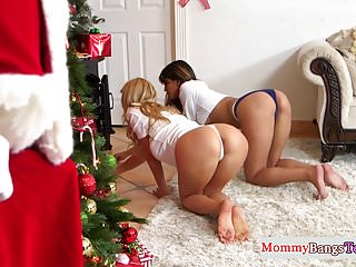 Busty stepmommy doggystyled by Santa Clause