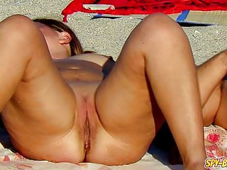 Horny Voyeur Nude Beach MILFs Close Up Frontal Pussy