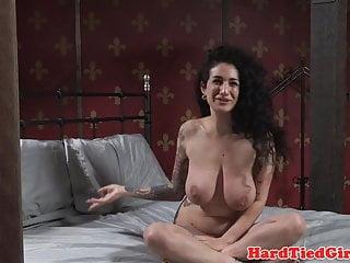 Hardfucked sub slave bound and pounded