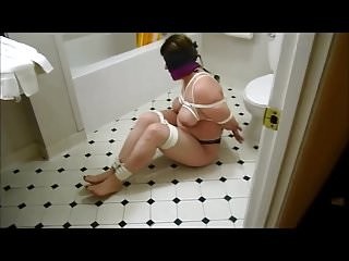 Chubby Sub Wife Bound and Humiliated