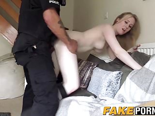 Blonde Satine bouncing ass on big dick