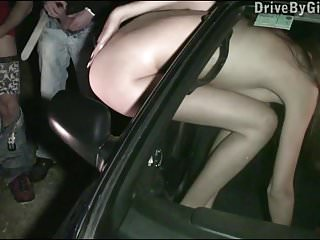 Hot pornstar Kitty Jane PUBLIC gangbang with strangers
