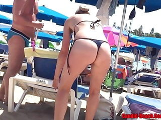 Thong Ass Bikini horny Milfs Beach Voyeur HD Video