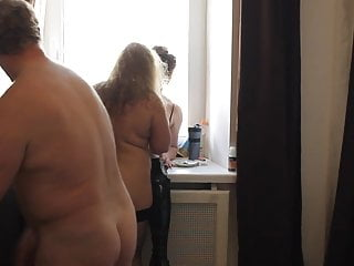 MFF Russian Blonde BBW and Arab MILF